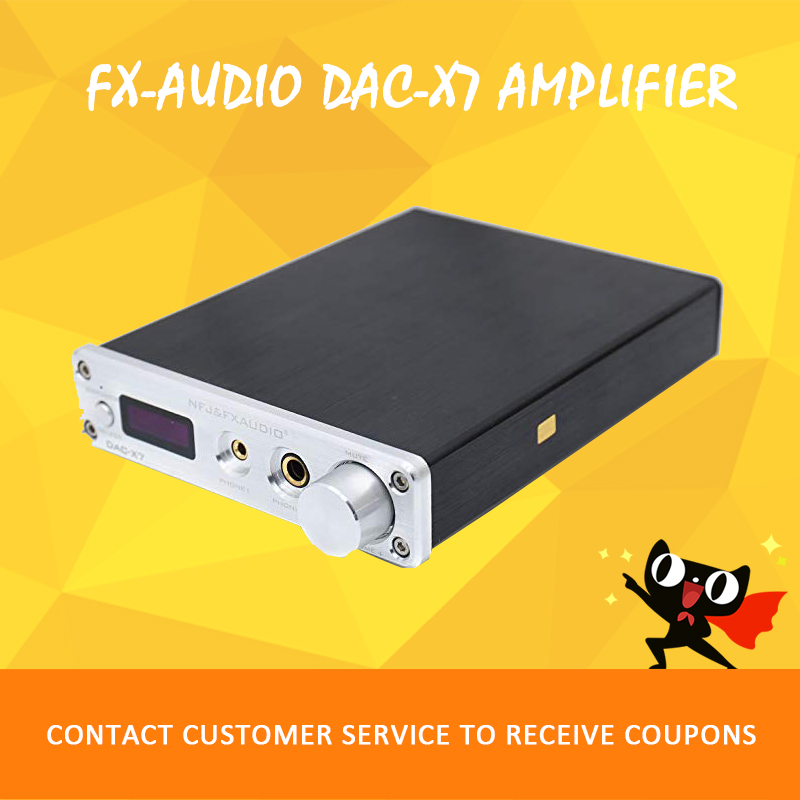 цена FX-AUDIO DAC-X7 amplifier audio usb dac hifi amplifier 2.1 USB Digital Decoder power amplifier amp amplificador audio