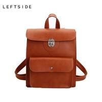 LEFTSIDE Women Big Backpacks High Quality PU Leather Backpack For Teenage Girls School Pack Bag