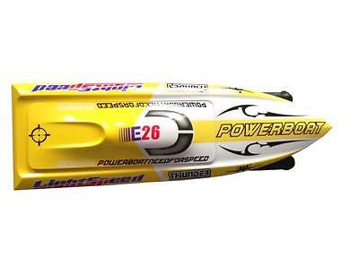 E26 KIT Thunder Fiber De Verre Pré-peint RC Racing Bateau Coque pour Adcanced Lecteur Jaune