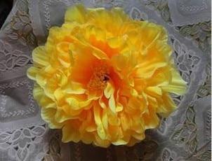 76 шт. искусственная ткань 12 слоев 16 см Открытый Пион цветок голова для Diy Ювелирные изделия Свадьба Рождество U выбрать цвет - Цвет: yellow
