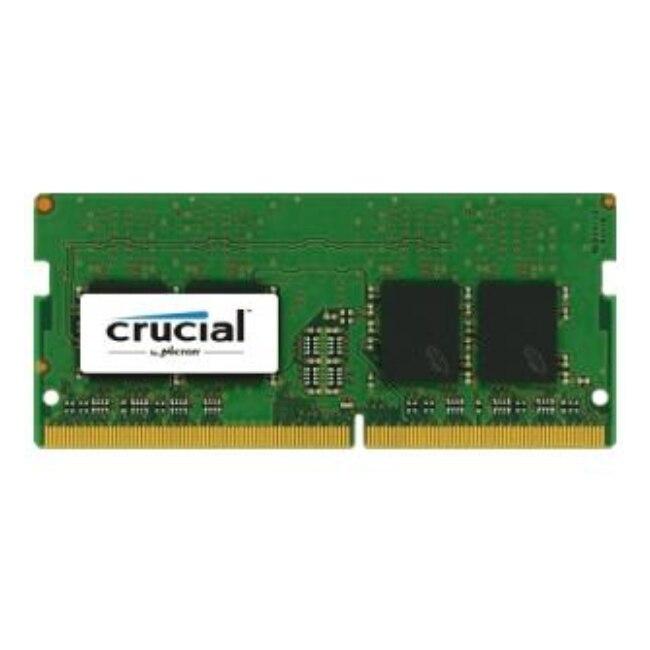 Crucial 16 GB DDR4, 16 GB, 1x16 GB, DDR4, 2400 MHz, SO-DIMM 260 broches