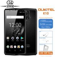 K10 Oukitel Android 7.0 11000 mAh Smartphone 6 GB RAM 64 GB 6.0