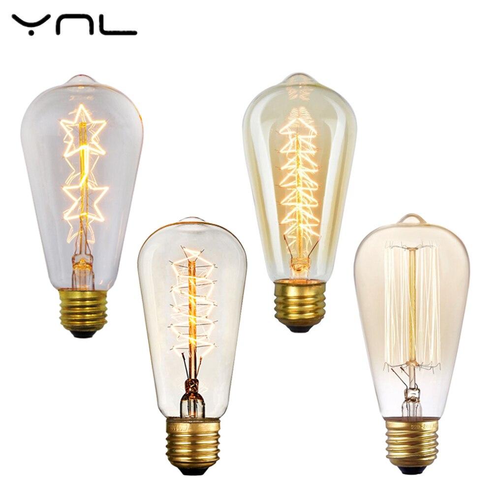 incandescent bulb ST64 Retro lamp vintage edison light bulb E27 220v wedding decoration 40W lamp lampada pendantcelling light