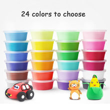 Mini Air Dry Clay Polymer Play Dough Plasticine Light Soft Modeling Clay EVA Handgum Jumping DIY Foam Playdough Educational Toys(China)