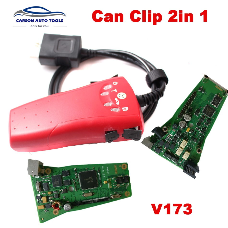 Newest 2 in1 Canclip 2in1 V178 v182 full Chip Professional Diagnostic Tool 2 in 1 can clip full chip