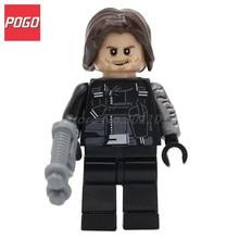 POGO Super Hero Winter Soldier DIY Model Building Block Set Bricks Single Sale Educational Toys For