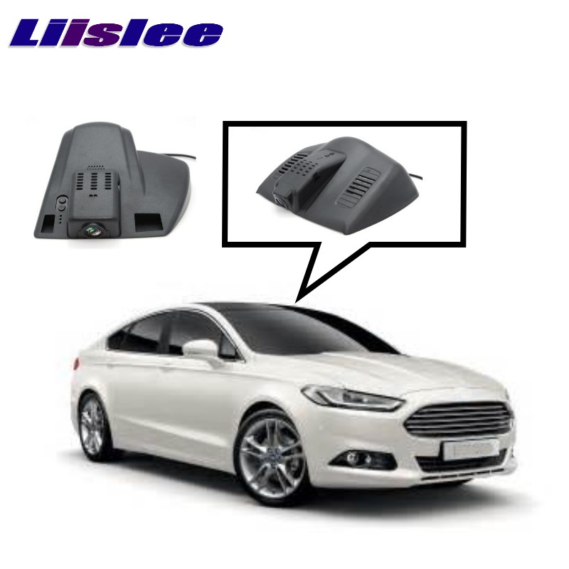 LiisLee Car Black Box WiFi DVR Dash Camera Driving Video Recorder For Ford For Mondeo Contour Fusion MK5 2014~2017 for kia carnival car driving video recorder dvr mini control app wifi camera black box registrator dash cam original style