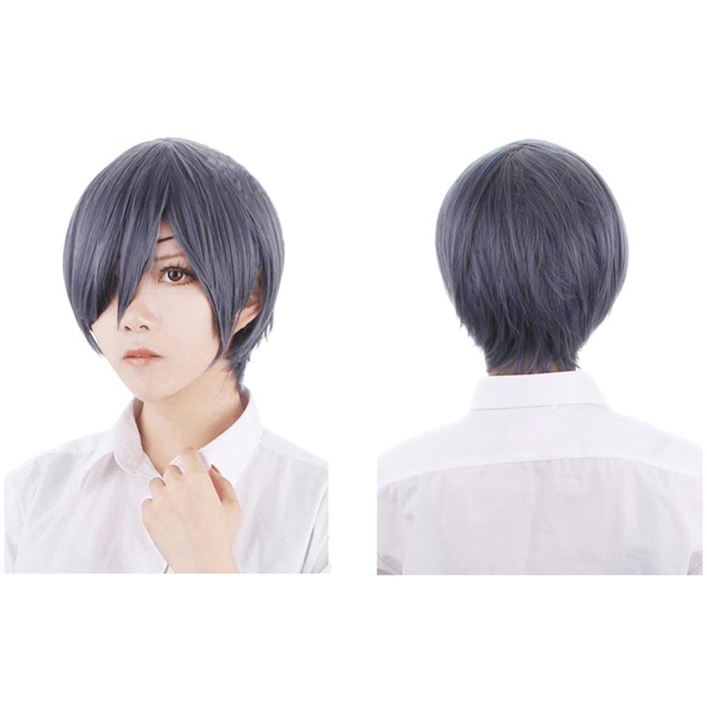 Fashion Heat Resistant Synthetic Gray Short Wig Butler Kuroshitsuji Ciel Phantomhive Cosplay Wig