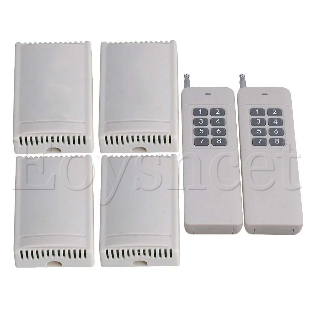 12V 433Mhz 2CH Garage Door  Remote Control Long Range 8 Buttons