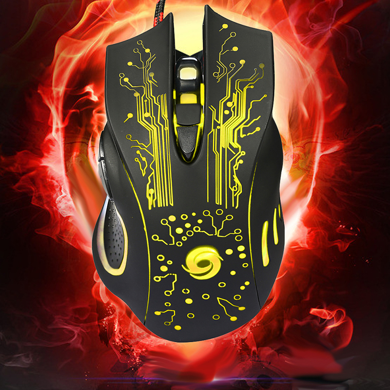 USB Wired Gaming Mouse 5500DPI Adjustable 7 Buttons LED Backlit Professional Gamer Mice Ergonomic Computer Mouse for PC Laptop 2