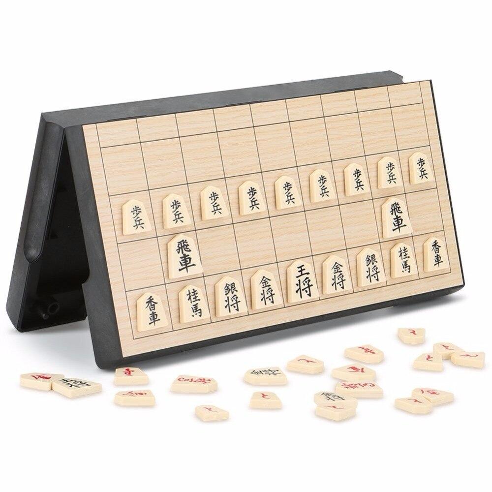 Pliable Magnétique Pliant Shogi Coffret Portable Japonais Jeu D'échecs Sho-gi Exercent la pensée logique 25*25*2 cm