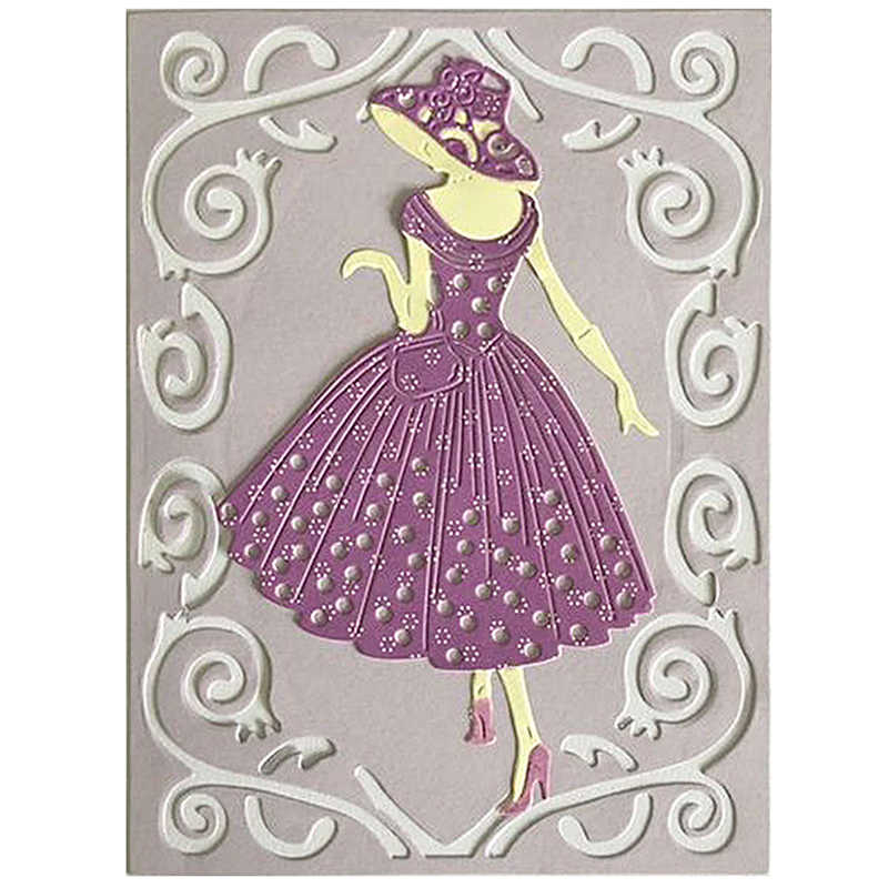 Women Dresses Metal Cutting Dies Stencils For DIY Scrapbooking Decor Embossing Suit Paper Cards Die Cutting Template NEW 2019