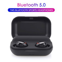 TWS Wireless Bluetooth Earphone 2200 mah battery Earphones For Xiaomi Huawei Stereo Earbud Sport Ear Phone With Mic Charging Box
