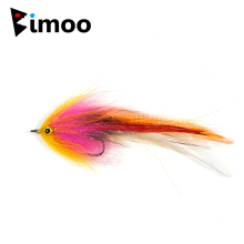 Bimoo Ny ørret Steelhead Laks Pike Streamer Fly for Fly Fishing Flies Størrelse 1/0