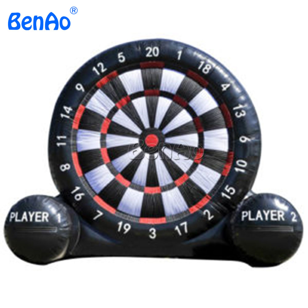 S234 Free shipping+blower 0.55mm PVC 3m dia Inflatable dart game,giant inflatable soccer/football darts board for sale