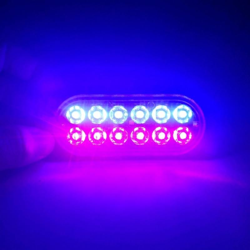 12V - 24V 4 Led Strobe Warning Light Strobe Grille Flashing Lightbar Truck Car Beacon Lamp Amber Blue Red Traffic Light