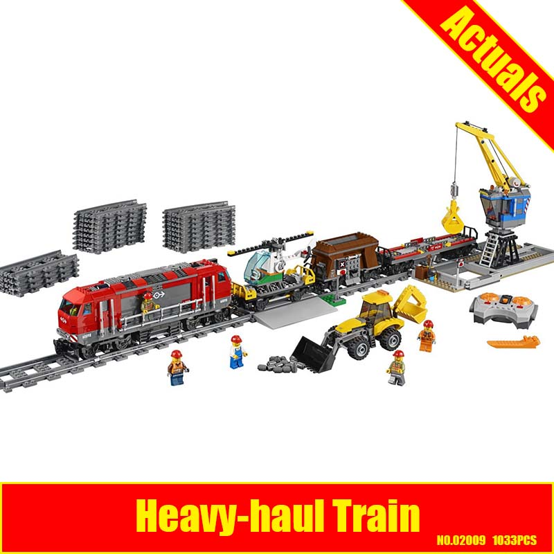 LEPIN 02009 1033pcs City Series Train Engineering Vehicle 02009 Building Block Compatible 60098 Brick Toy lepin 02009 city engineering remote control rc train model