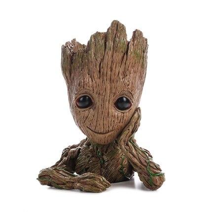 Gardiens de la galaxie arbre homme Groot demi-longueur modèle exquis réaliste stylo conteneur divers conteneur 16 cm