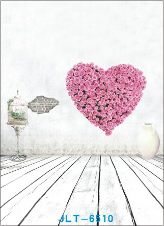 Valentine day theme Vinyl Muslin Photography Backdrops Prop Photo Studio Background JLT-6510 - Green City Digital store
