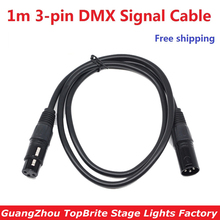 Sales 1 Meter Length 3Pin Signal Connection DMX Cable For Stage Disco Light Accessories DMX Cable Signal Line for DJ Moving Wire(China)