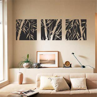 Wall Stickers Free Shipping Wholesale And Retail Bamboo Home Decor Wall Paster