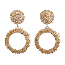 лучшая цена korean bijouterie bohemian earring Mistress gift Trendy golden silver dangling earrings for women earring 2019 fashion jewelry