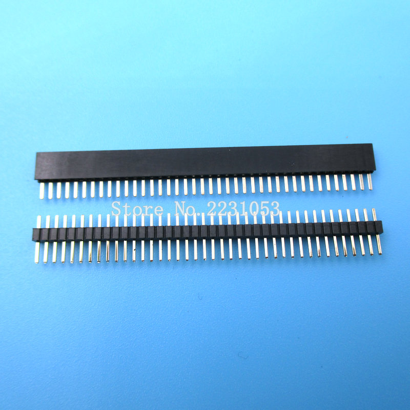 20PCS/Lot 1x40 Pin <font><b>1.27</b></font> <font><b>mm</b></font> Single Row Female & Male Pin Header connector image