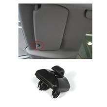 1PC Black / Grey Auto Inner Sun Visor Hanger Hook Clip Bracket Fit For Audi A1 A3 A4 A5 Q3 Q5 2013-2016 Car Accessories