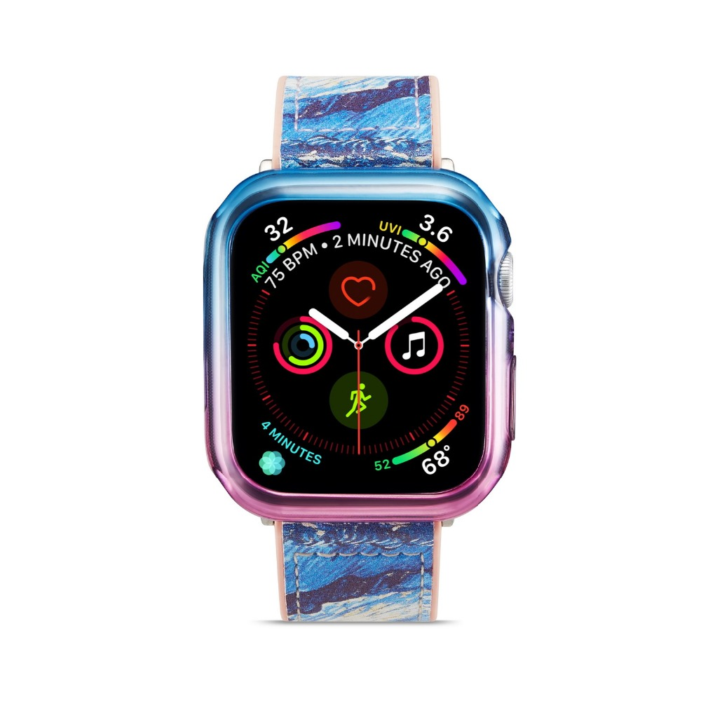 Colorful Soft Silicone Case For Apple Watch iWatch Series