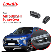 Loyalty for MITSUBISHI Eclipse Cross 2018 2019 Inside Car Seat Adjustment Buttons Trim Frame Cover ABS Carbon fiber Car Styling two dimensional mirror holder adjustment territory rack adjustment frame red frame for yag fiber laser mark machine