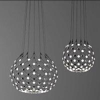 Nordic italian pendant LED light Black white chess pieces LED suspension Lamp dinning restaurant villa Light hanging modern