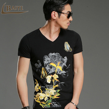 TBAIYE Newest Fashion Men's T Shirts 3D Printing Bronzing Summer Short Tees Casual Cotton Short Sleeve Luxury Men T-shirt