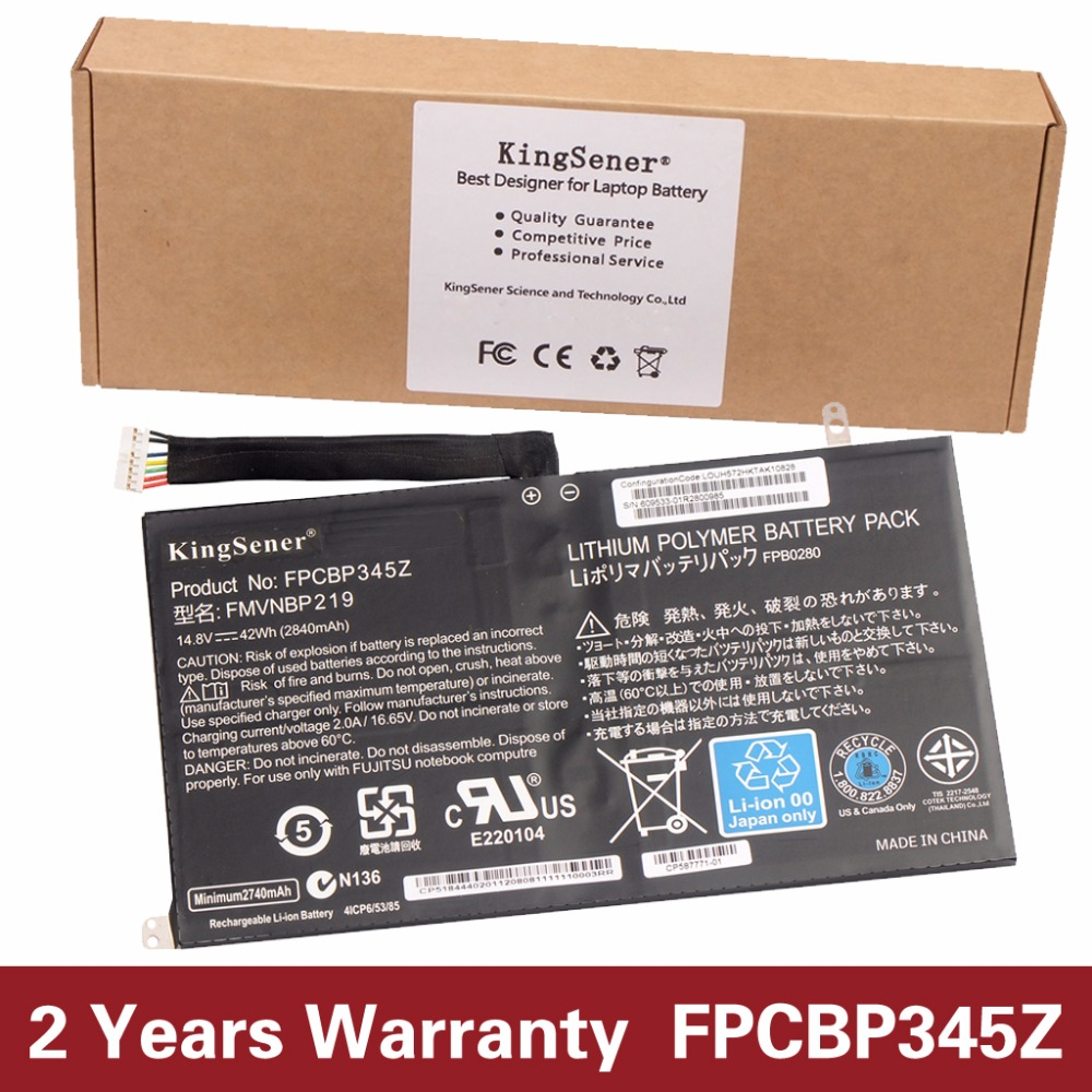 KingSener New FPCBP345Z Laptop Battery for Fujitsu LifeBook UH572 UH552 Ultrabook FMVNBP219 FPB0280 FPCBP345Z 14.8V 2840mAh