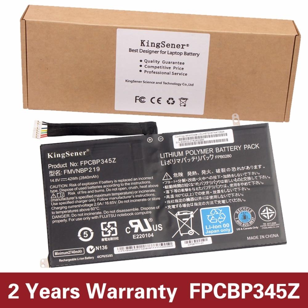 KingSener New FPCBP345Z Laptop Battery for Fujitsu LifeBook UH572 UH552 Ultrabook FMVNBP219 FPB0280 FPCBP345Z 14.8V 2840mAh 10 8v 5800mah original new fpcbp179 battery for fujitsu lifebook s6420 s6421 s6410 s6520 s6510 s7210 s7220 fmvnbp160 fpcbp179ap