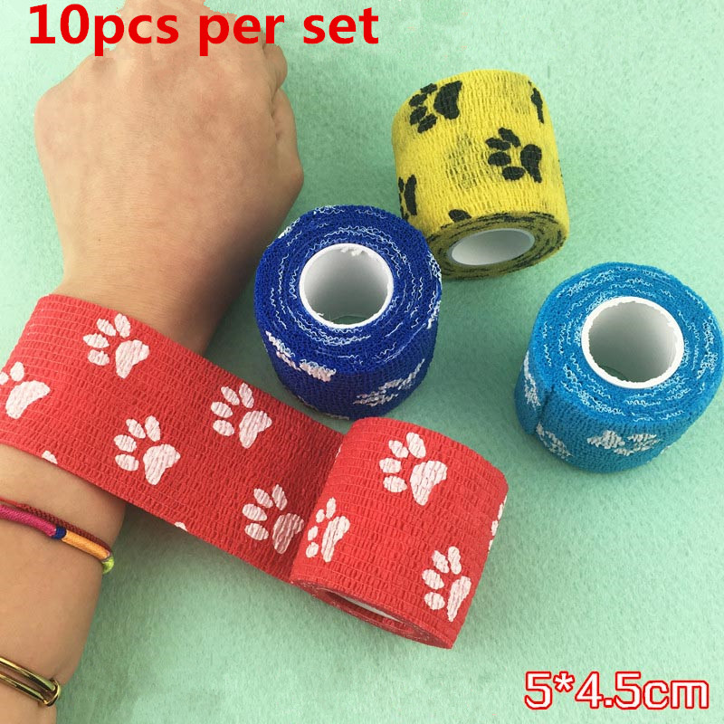 Besta 10pcs Mix Design Tattoo Grip Bandage Lovely Disposable Self adhesive Elastic Bandage for Handle Grip Tube Tattoo Grip Cove in Tattoo accesories from Beauty Health