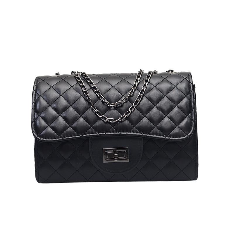 Fashion Ladies Crocodile Flap Bag Designer Handbags Women Bags Black White Small Day Clutch Gold Chain Girls Crossbody Bags