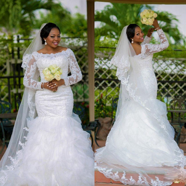 Buy New Plus Size Bridal Gown For Black