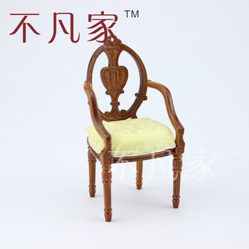 цена на Dollhouse 1/12 scale miniature furniture Beautiful wooden carving Armchair