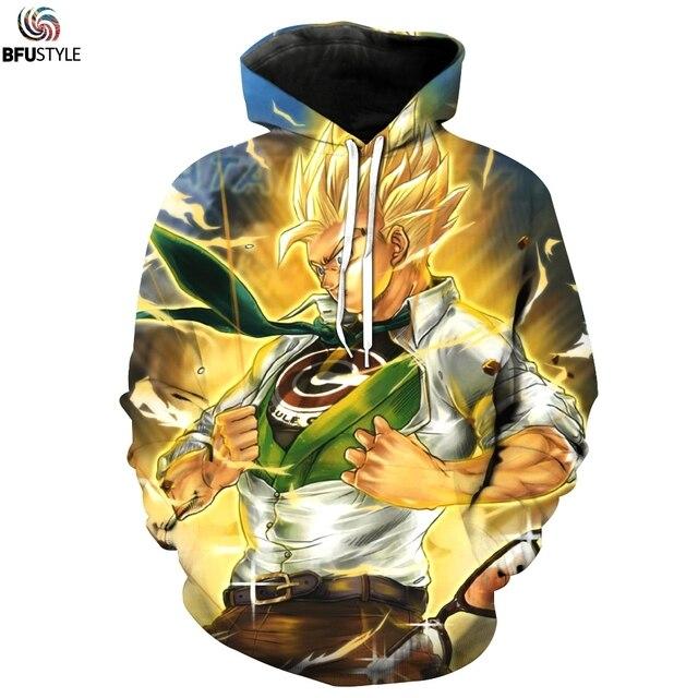 Dragon Ball Z Hoodie 3D Print DBZ Plus Size Clothing Fashion Goku Sweatshirts Sweat Homme Sportswear Male Hoodies 3XL