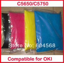 High quality color toner powder compatible for OKI C5650/C5750 Free shipping
