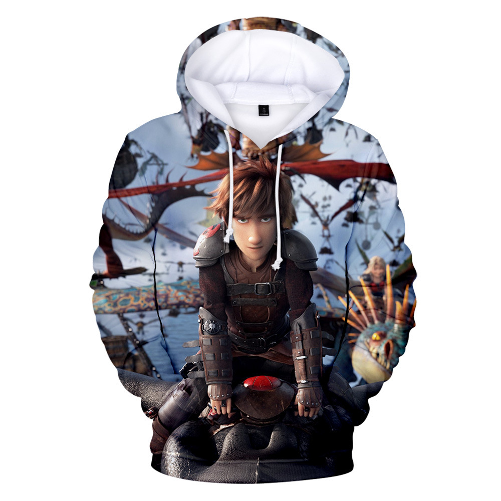 3D Print Men Women Hoodies How to Train Your Dragon Cosplay Costumes Hooded Sweatshirts Autumn Winter Coat