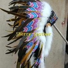 28 дюймов orange перо повязка на голову, повязка на голову, костюм с перьями на Хэллоуин костюм костюмы для праздников