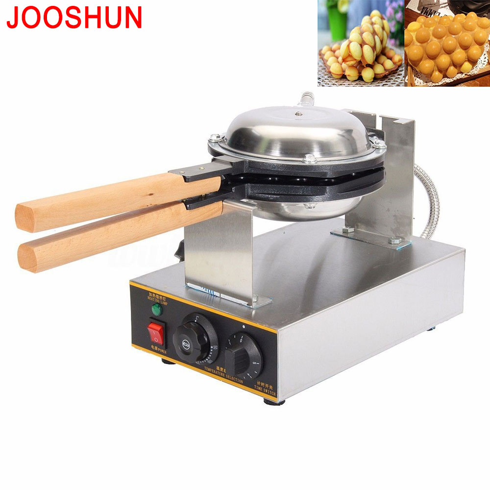 Free Shipping Commercial electric Chinese Hong Kong eggettes puff egg waffle iron maker machine snacks egg cake oven 220V/110V 1pc egg puff machine hk style egg waffle maker egg waffle iron bubble waffle wafer machine electric eggettes egg waffle maker