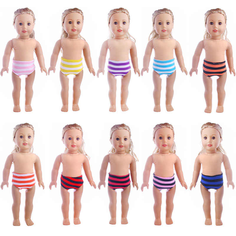 Fleta new 43cm doll or 18inch american  doll clothes stripe Underpants for  doll toy accessories