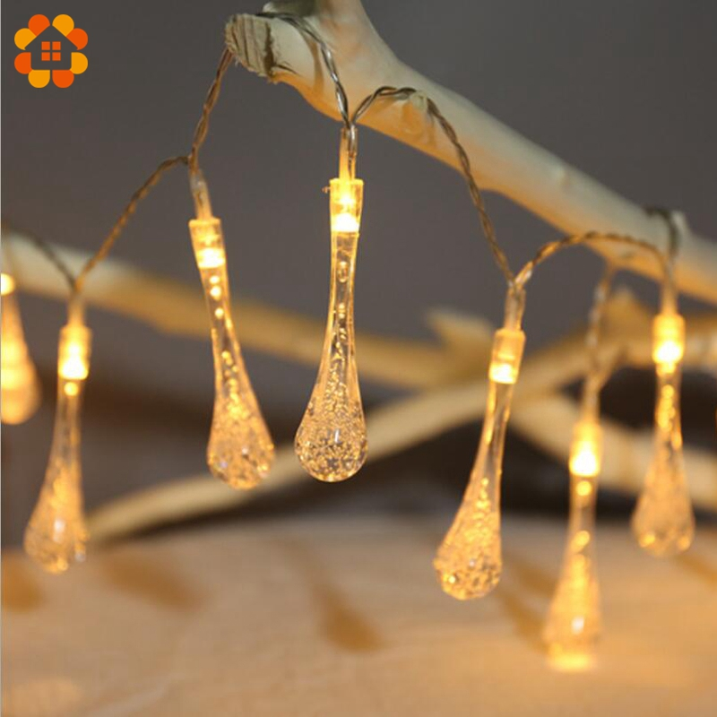 US $3.74 20% OFF|2M Drop Shaped LED Garland Led String Lights Wedding Fairy  Lights Home Decor Wedding Party Supplies DIY Decoration Led Lights-in ...