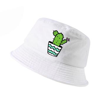 Kaktus kobiety wiadro kapelusz harajuku pop lato wiadro kapelusze mężczyźni odkryty polowanie panama czapka wędkarska kaktus rybak czapki tanie i dobre opinie FYDTQZYHY COTTON Unisex Dla dorosłych Mieszkanie sas95956 Cartoon Na co dzień