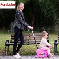 5 многофункциональных ходунков для ребенка розовый трехколесный велосипед Jogger 3 скутер с рулевой отдачей детская коляска для прогулок 3 кол