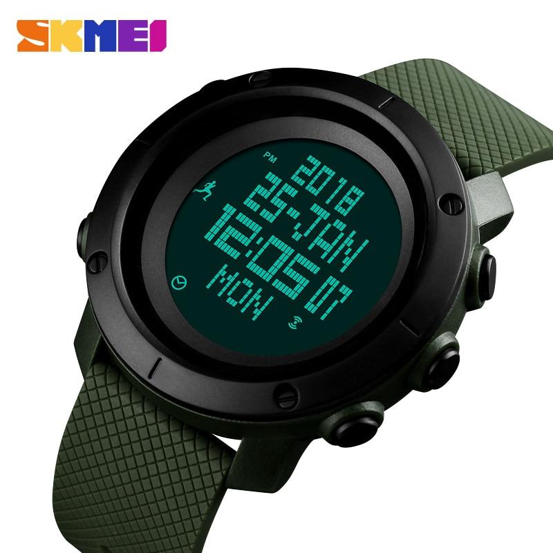 Men Watch Compass World Time Pressure Pedometer Stopwatch Calorie Electronic Digital Watches Relogio Masculino SKMEI 2018