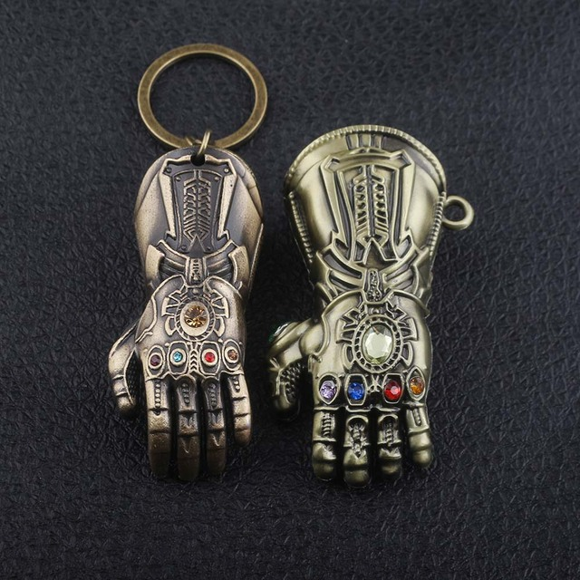Marvel Avengers Infinity War Thanos Glove Gauntlet Keychain (4 colors) 4
