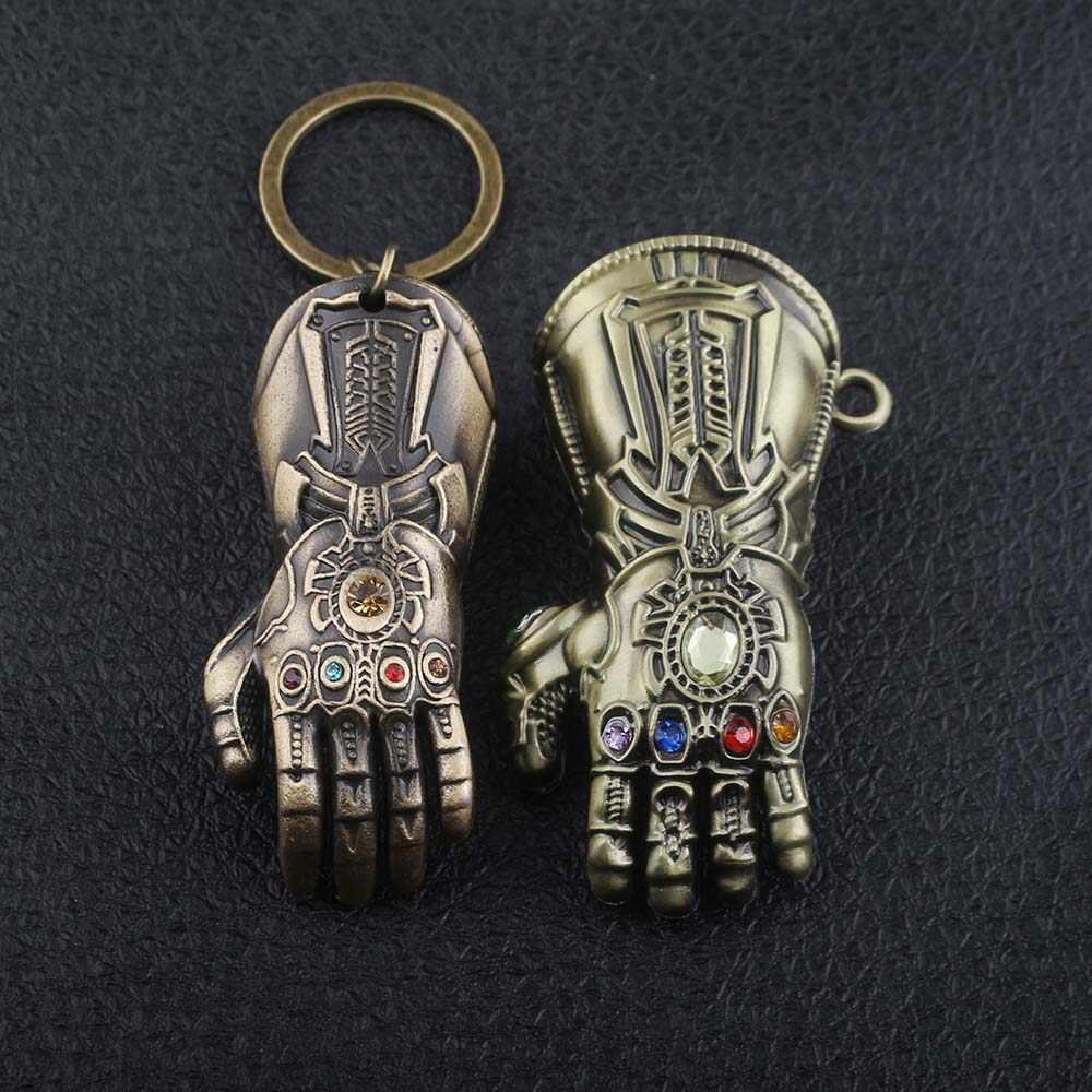SG haute qualité Avengers 4 Infinity War Thanos puissance infinie gant gantelet or fer homme modèle porte-clés porte-clés cadeau Cosplay